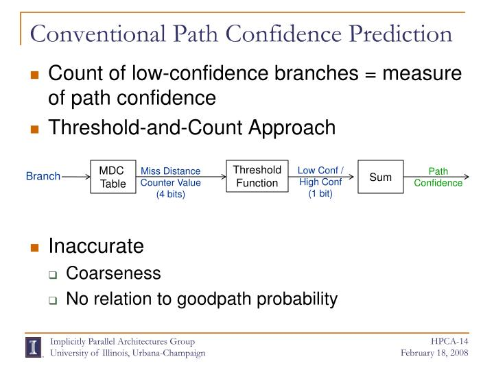 Conventional Path Confidence Prediction