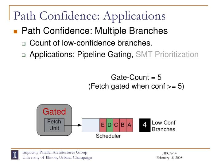 Path Confidence: Applications