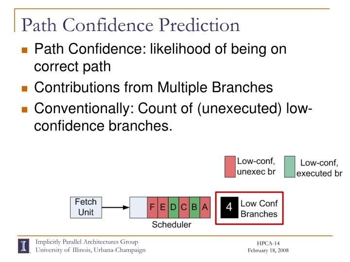 Path Confidence Prediction