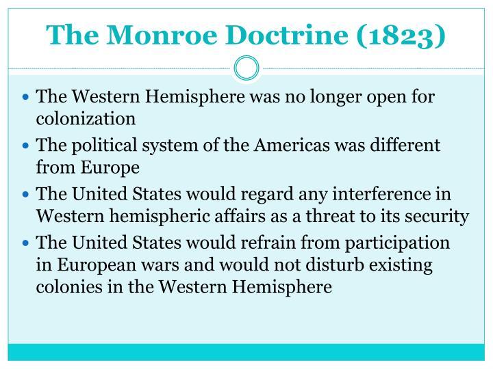 The Monroe Doctrine (1823)
