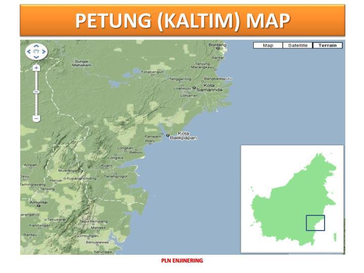 PETUNG (KALTIM) MAP