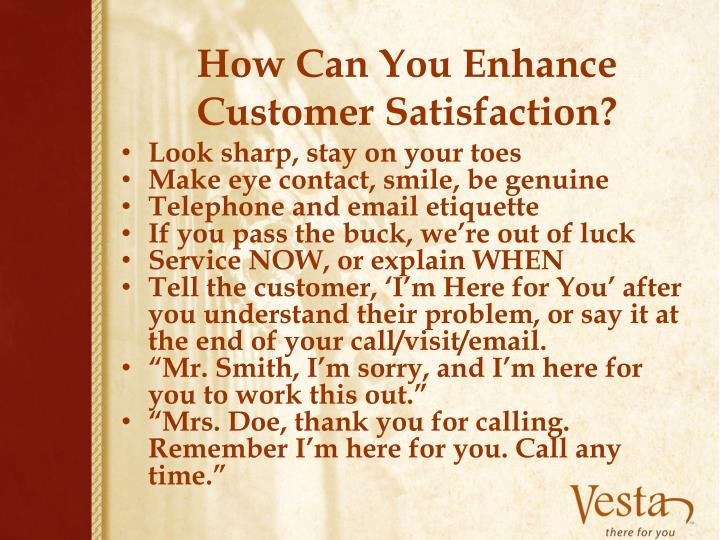 How Can You Enhance Customer Satisfaction?