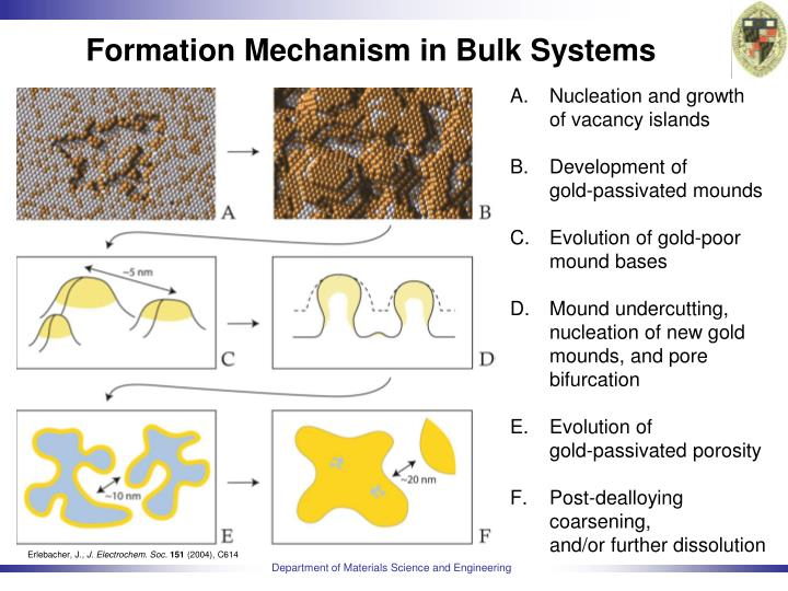 Formation Mechanism in Bulk Systems