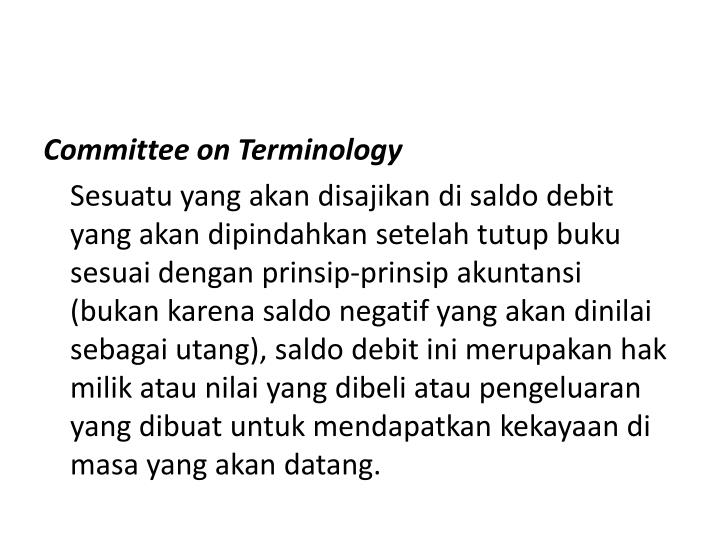 Committee on Terminology