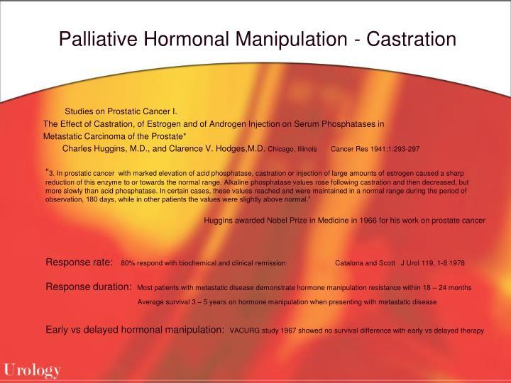 Palliative Hormonal Manipulation - Castration