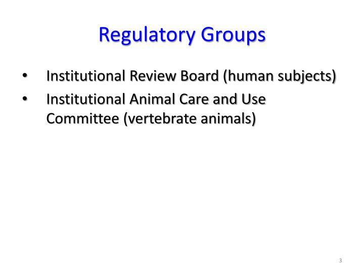 Regulatory Groups