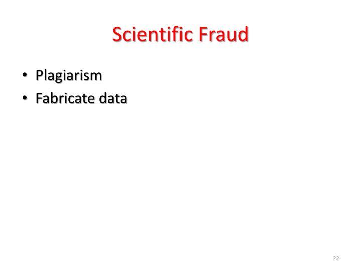 Scientific Fraud