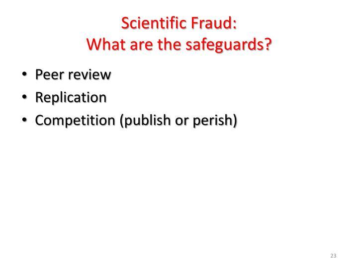 Scientific Fraud: