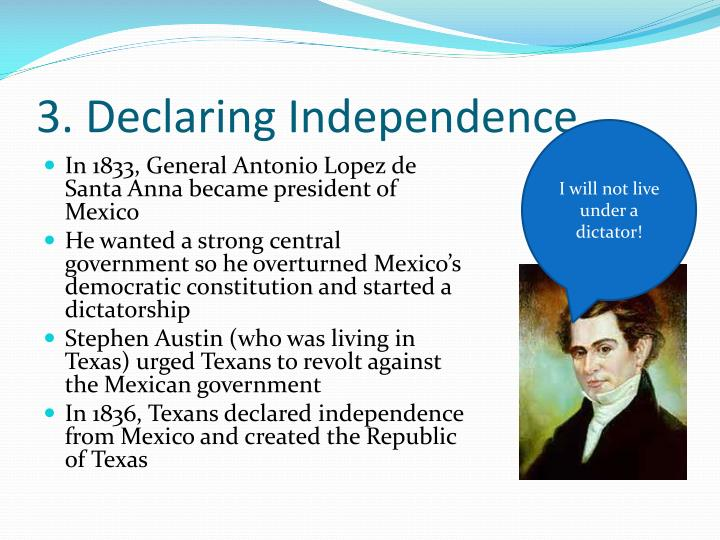 3. Declaring Independence