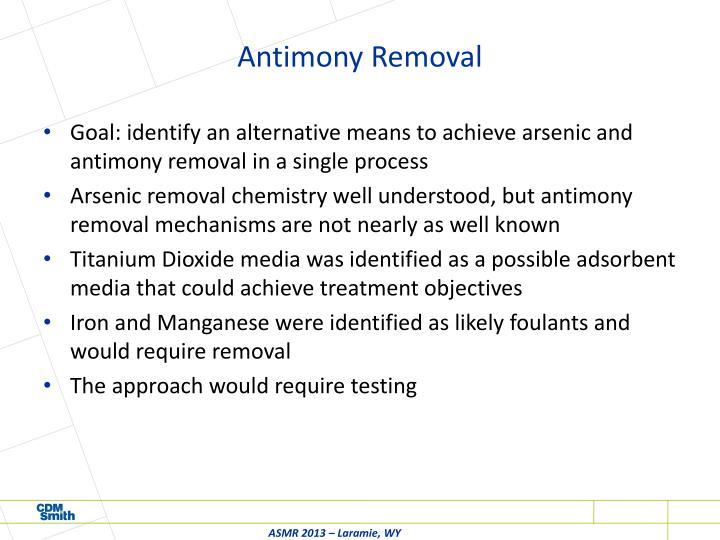 Antimony Removal