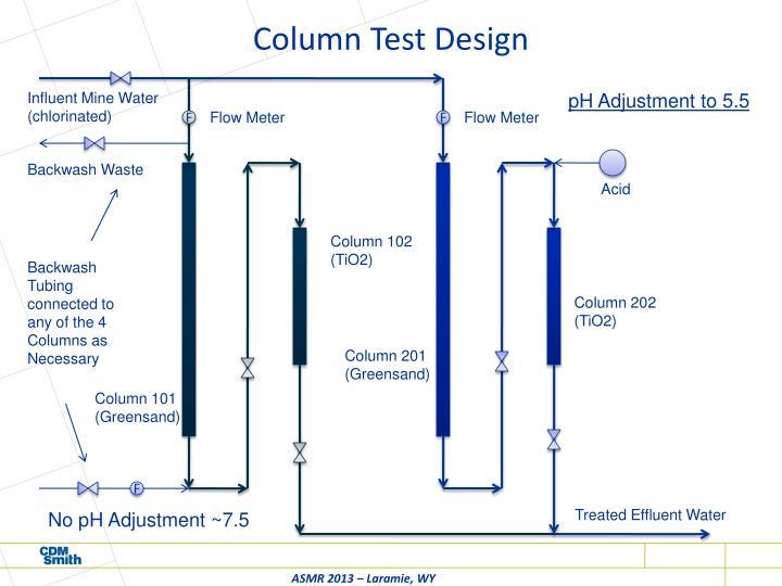 Column Test Design