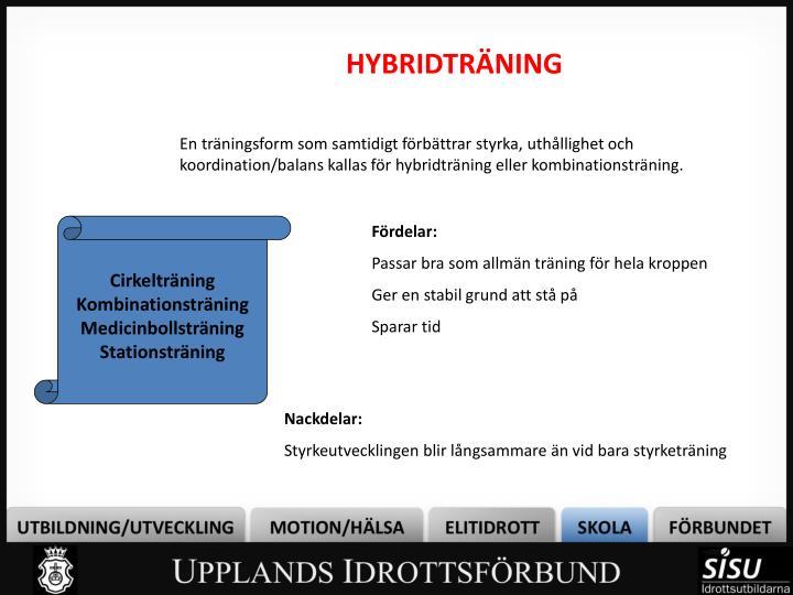 HYBRIDTRÄNING