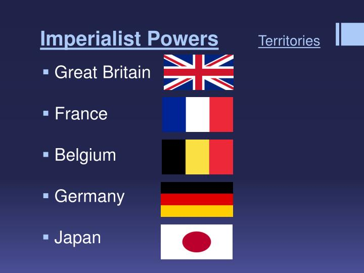 Imperialist powers territories