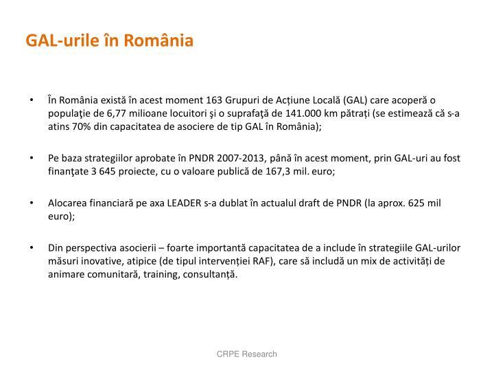 GAL-urile în România
