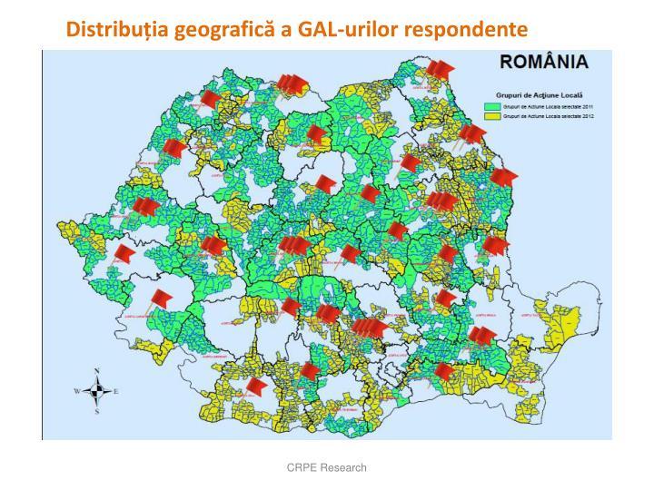 Distribuția geografică a GAL-urilor respondente