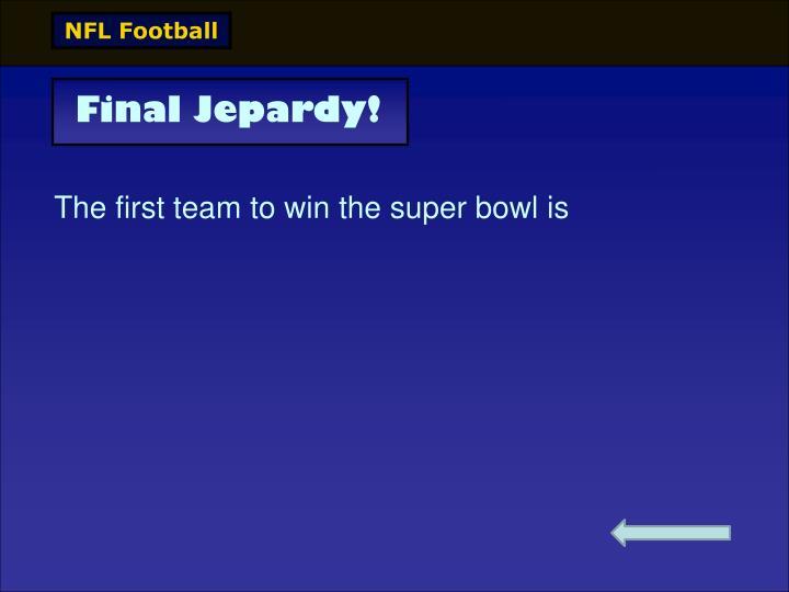 Final Jepardy!