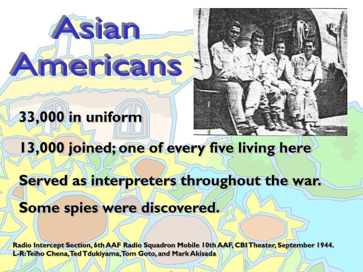 33,000 in uniform
