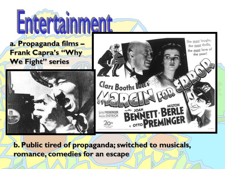 "a. Propaganda films – Frank Capra's ""Why We Fight"" series"