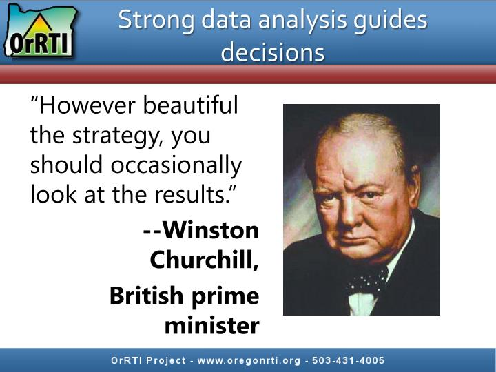 Strong data analysis guides decisions