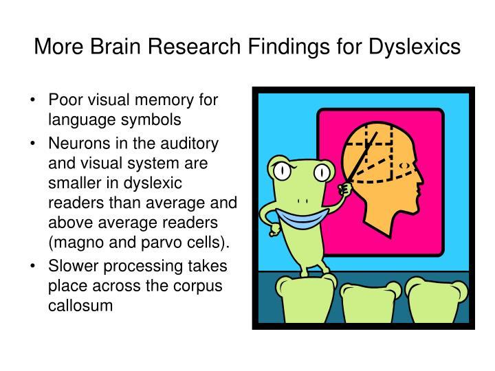 Poor visual memory for language symbols