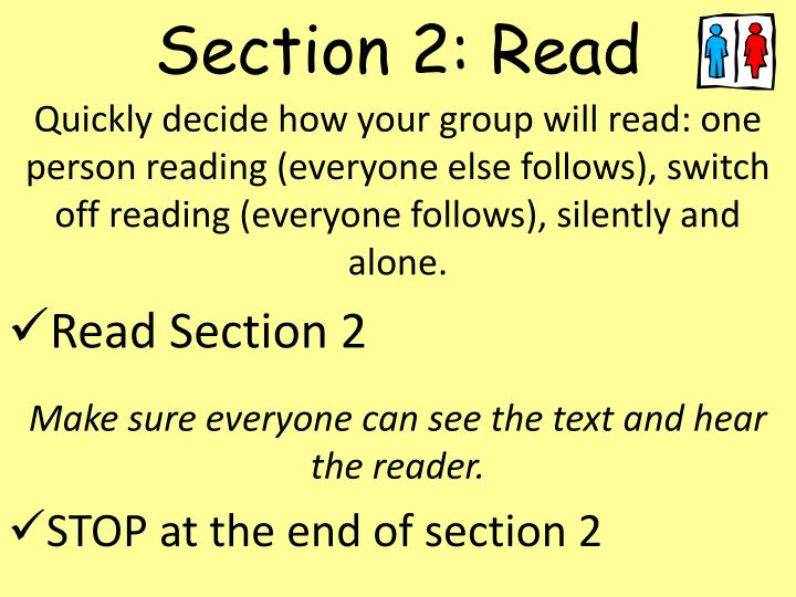 Section 2: Read