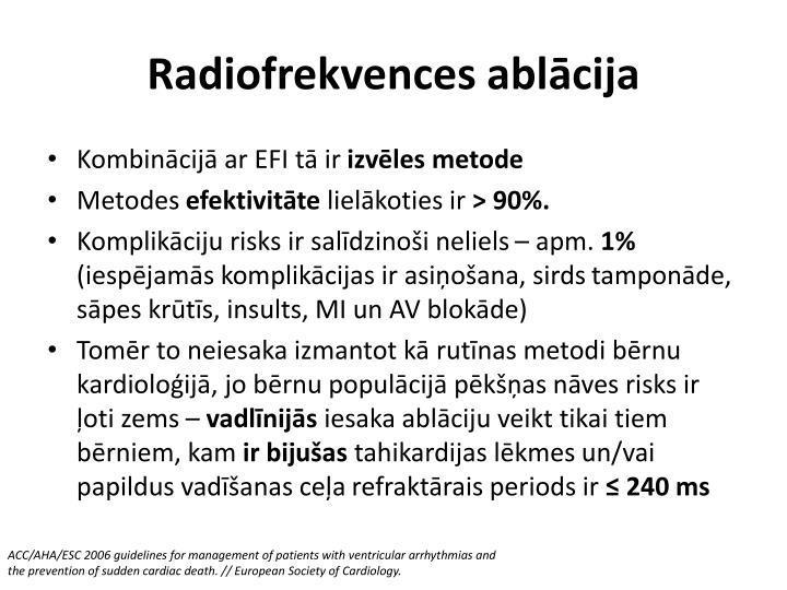 Radiofrekvences ablācija