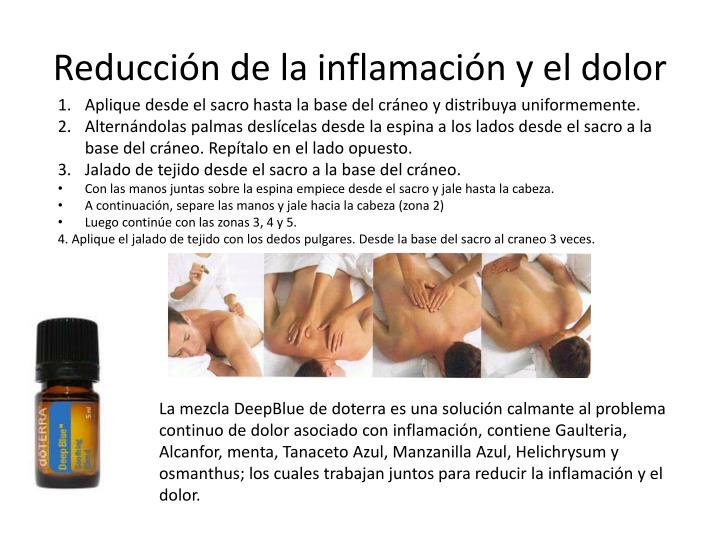 Reducción de la inflamación y el dolor