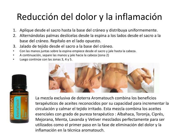 Reducción del dolor y la inflamación