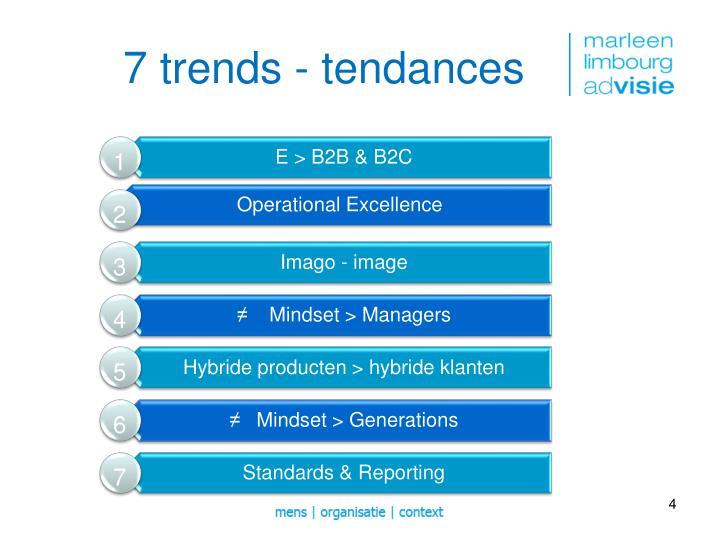 7 trends -