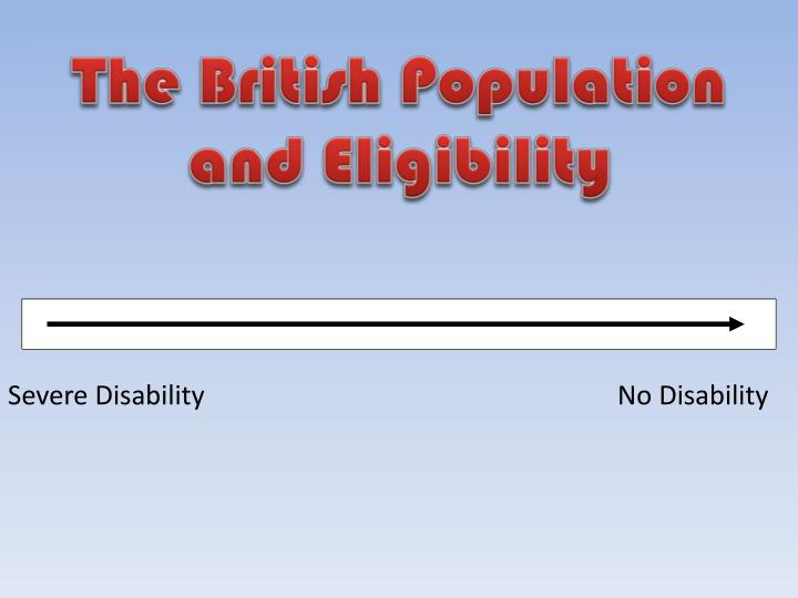 The British Population and Eligibility