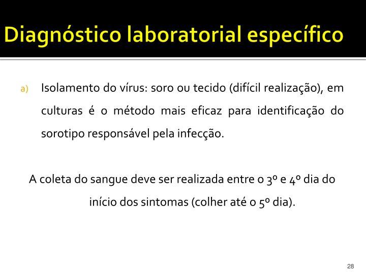 Diagnóstico laboratorial específico