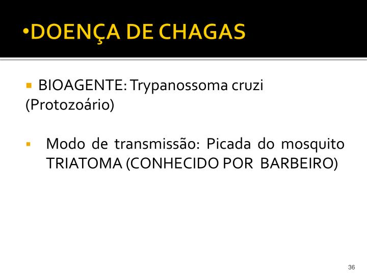 DOENÇA DE CHAGAS