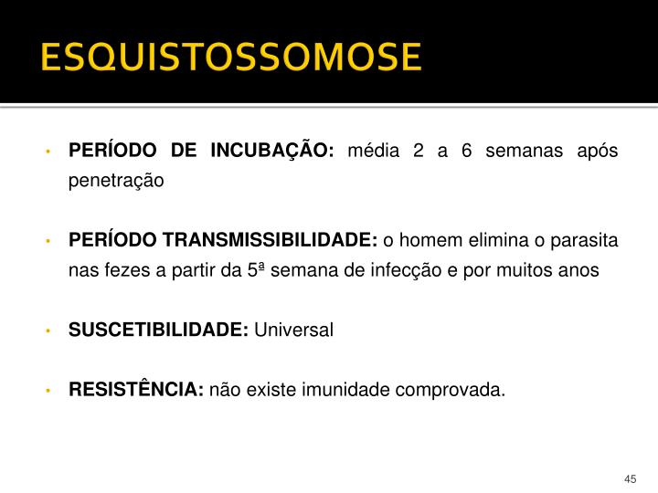 ESQUISTOSSOMOSE