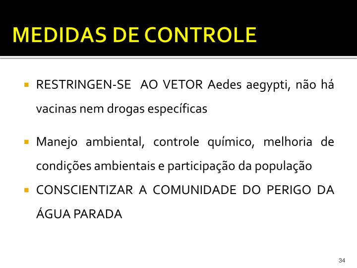MEDIDAS DE CONTROLE