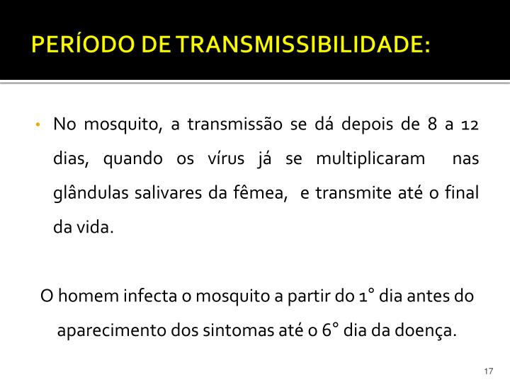 PERÍODO DE TRANSMISSIBILIDADE: