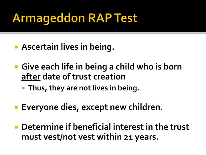 Armageddon RAP Test