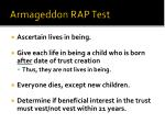 armageddon rap test