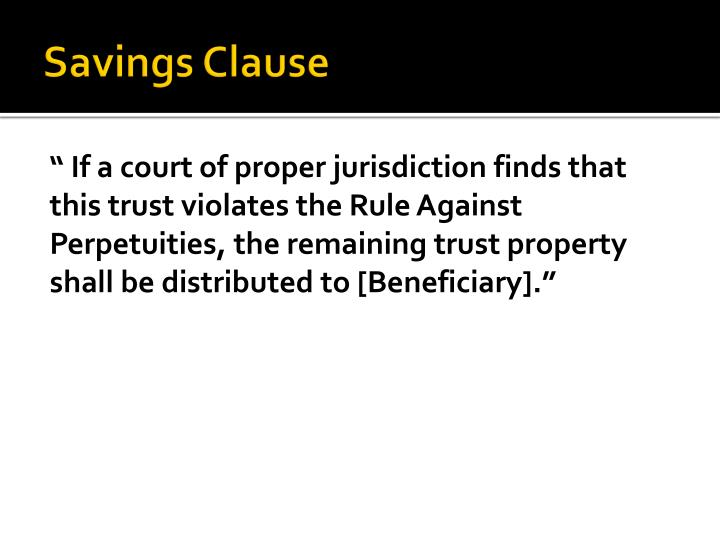 Savings Clause