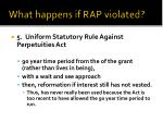 what happens if rap violated4
