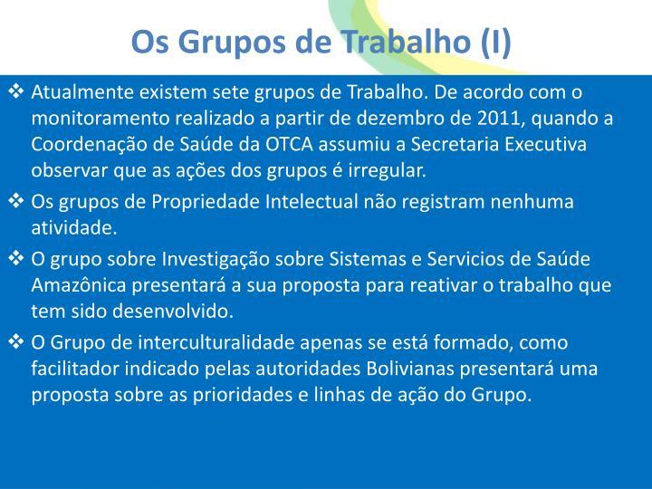 Os Grupos de Trabalho (I)