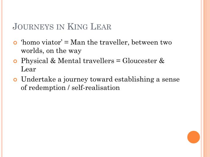 Journeys in King Lear