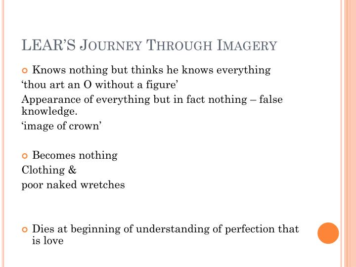 LEAR'S Journey Through Imagery