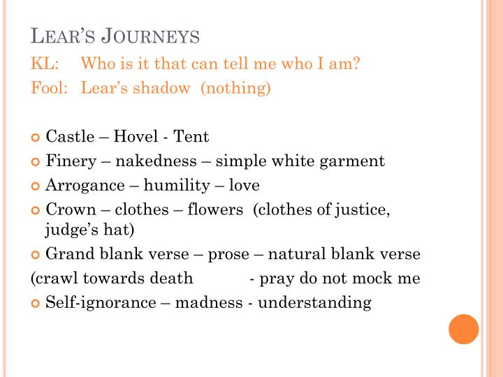 Lear s journeys