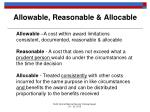 allowable reasonable allocable