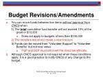 budget revisions amendments