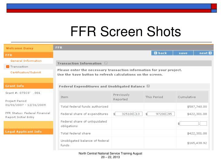 FFR Screen Shots