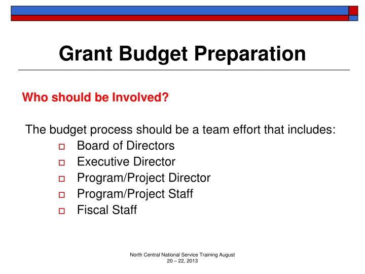 Grant Budget Preparation