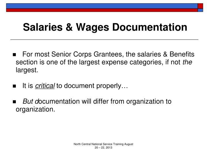 Salaries & Wages Documentation