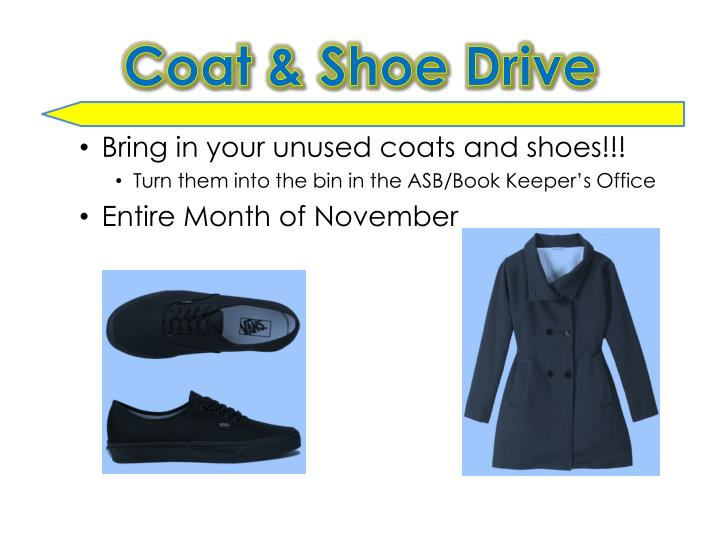 Coat & Shoe Drive