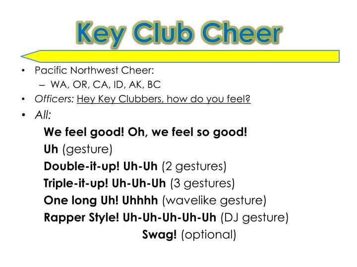 Key Club Cheer